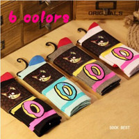 Wholesale Wholesale White Knee Socks - Wholesale-free shipping new Harajuku hip hop skateboard odd future donut socks ofwgkta men's socks Unisex sport cotton meias