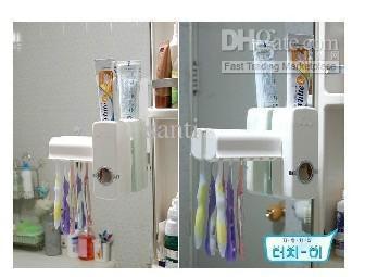 自動歯磨き粉ディスペンサーとブラシホルダーセットを触れてください