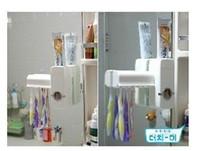 portaescobillas conjuntos de pasta de dientes al por mayor-touch me Dispensador automático de pasta de dientes y portaescobillas SET