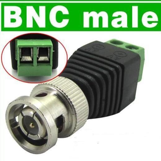 Morsettiera e BNC maschio coassiale CAT5 al sistema CATV del connettore Balun video CCTV della fotocamera