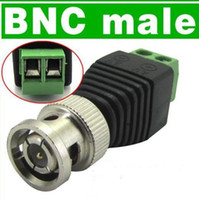 Wholesale Cctv Cat5 Balun Connector - Terminal block and Male BNC Coax CAT5 To Camera CCTV Video Balun Connector CATV system