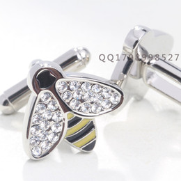 Wholesale Fast Tying - Wholesale-Free Shipping Animal models cufflinks, men's luxury cufflinks, fast shipping, crystal cufflinks inlaid daytime color