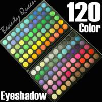 venda profissional de paleta de sombra de olhos venda por atacado-Alta qualidade!! Novo profissional 120 cores sombra de olho paleta de maquiagem kit de cosméticos P120 # 01 venda quente