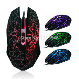 Wholesale Mouse Optical Gamer - Wholesale-2015 Free shipping computer colorful backlight 4000DPI Optical wired gaming mause optic mouse para jogos gamer mice for laptop