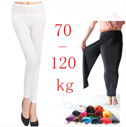 Wholesale Leggings Wholesale For Plus Sizes - Wholesale-Plus Size Summer Candy Color Thin Ankle Length Legging Pants High Waist Skinny Leggings For Women
