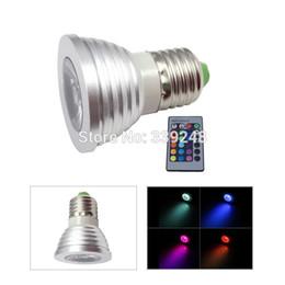 Gros-E27 3W RGB LED 16 couleurs lumière ampoule de lampe de plafond magique + IR à distance 85-265V ? partir de fabricateur