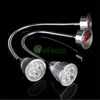 гибкий настенный светильник оптовых-Wholesale-5W 5 LED Wall Picture Bed Lamp Desk Reading Spot Light W/ 30CM Flexible Tube #65831