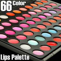 Wholesale 66 lip for sale - Group buy NEW Professional Color Lip Gloss Balm Lipstick Palette Fashion Makeup Cosmetics Kit FREE SHIP