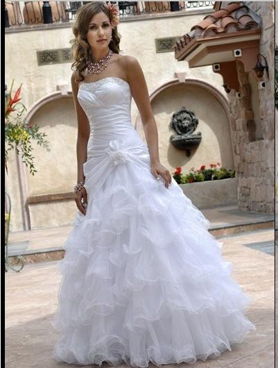Discount Wedding Dress All Size Beach Lady Celebrity Dresses Tube ...