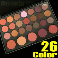 Wholesale Eyeshadow 26 Colors - Pro 26 Color Eye Shadow Eyeshadow Blush Pallete Set Warm Nude Concealer Contour Makeup Cosmetic Kit