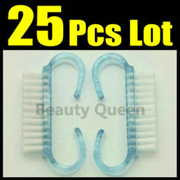 $enCountryForm.capitalKeyWord NZ - 25Pcs Lot Nail Dust Cleaning Clean Brush Plastic Wash Tool Scrubber File Manicure Pedicure FREE SHIP