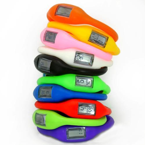 Wholesale-Wholesale 10pcs Silicone Rubber Jelly Ion Unisex Mens Womens Boys Girls Sports Digital LED Bracelet Wrist Watches