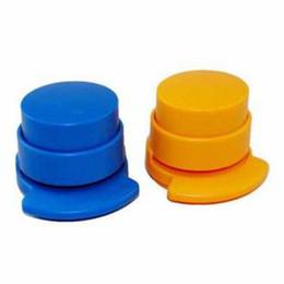 Mini Ambiental Compact grampeador Transparente Staple gratuito grampeador arrefecer itens interessantes Kingsale em Promoção