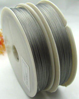 Wholesale Tail Beading Wire - 10ROLLS of 100M Silver Tiger Tail Beading wire 0.45mm M82
