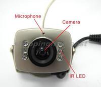 mikro cctv kamera ses toptan satış-Kablosuz mikro CCTV güvenlik mini pinhole A / V ses gözetleme RC Kamera alıcısı 1.2 ghz kiti