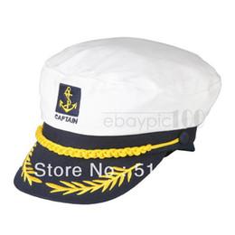 Wholesale Navy Sailor Cap - Wholesale-Captain Boating Sailor Sea Navy Marine Hat Cap Party