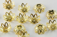 Wholesale golden metal bead caps x6mm