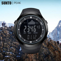 Wholesale Sport Watch Thermometer - Wholesale-SUNTO digital watches Men Women watch men outdoor clock fishing weather altimeter barometer thermometer altitude climbing hiking