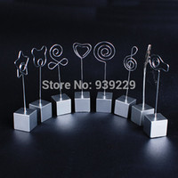 Wholesale Wire Picture Holder Clip - Wholesale-Free Shipping 10Pcs DIY Craft Desk Metal Wires Card Picture Photo Clip Memo Hold Holders clay cake clamp