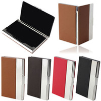 Wholesale Selljimshop Aluminum Leather Pocket Business Credit ID Card Case Metal Box Holder Cover