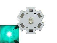 Wholesale 3w Led Emitter Star - Wholesale-Epileds Cyan 3W 490-495nm Led Beads 3-3.4V 350-700mA Led on 20mm Star Board Led Emitter For DIY Plant Grow Led Light