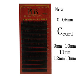 Wholesale Row C - Wholesale-BLOOM OF BEAURTYhigh quality 12 rows tray 0.05mm C curl eyelash for eyelash extensions 9mm to 13mm 5set  lot free shipping