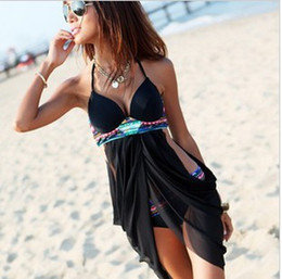 Wholesale Dresses Xx - Wholesale-New Arrival Sexy One-Piece Dress Swimwear Summer Fashion Beach Swimsuit Hot Spring Bathing Suits XX-067