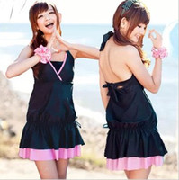 Wholesale Onepiece Swim Suit - Wholesale-Free Shipping Woman Large size swim wear Beach bathing suits onepiece dress hot spring woman's wear m, l, xl, xxl,3xl,4xl,5xl