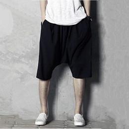 Wholesale Wide Leg Plus Size Capris - Wholesale Hot sell men cotton causal shorts Capris good qaulity soft comfortable middle long tropical wide leg shorts plus size