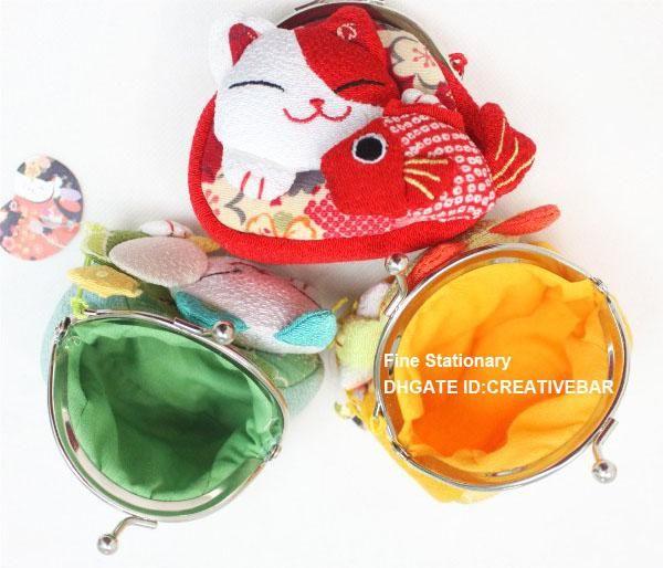 borsa della borsa della borsa chiave del fumetto della borsa della moneta del fumetto del raccoglitore della borsa 8 C Borsa della borsa della chiave del portafogli del fumetto della fortuna giapponese Cat del gatto fortunato della bocca
