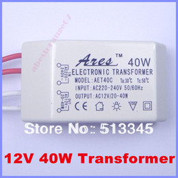 Wholesale Electronic Transformer For Halogen - Wholesale-Free shipping 4pcs AC 220V to12V 40W LED Driver Electronic Transformer Power Supply for 12V LED light bulbs for halogen bulbs