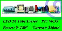 Wholesale T8 18w Led Driver Wholesale - Wholesale-High Power Constant Current Led Tube Transformer power supply T8 LED Tube Driver 18W 240ma 12W 14W 15w 16w AC 220V DC 36v 48v