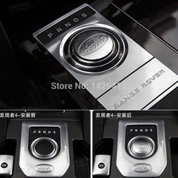 Wholesale Covers For Knobs Car - Wholesale-Car Chrome Gear Cover Shift Knob Stickers For Range Rover Evoque Car Accessory