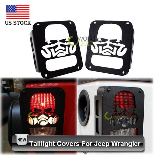 2018 Wholesale Car Styling Black Skull Tail Light Covers For Jeep Wrangler  Jk 2007~2015 With Screws From Atuomoto, $42.22 | Dhgate.Com