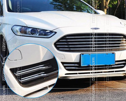 Wholesale Ford Trim - Wholesale-Accessories FIT FOR 2015 2015 FORD FUSION CHROME FRONT MESH GRILLE BUMPER COVER TRIM MOLDING GARNISH BONNET