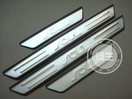 Wholesale scuff plate door - Wholesale-Free Shipping 2010-2015 KIA SOUL High quality stainless steel Scuff Plate Door Sill