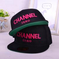 Wholesale Channel Hats - Wholesale-Hot selling Ssur channel zero flat-brimmed hat hiphop hip-hop snapback capfr hiphop skateboard baseball cap ee shipping