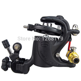 Wholesale Swashdrive Style Tattoo Machine - Wholesale-Rotary Tattoo Machine Gun Swashdrive Gen 8 Dragonfly Style 10 Watt Strong Motor M628-1 Black