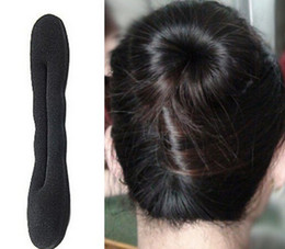 Wholesale Style Hair For Girl - Wholesale-2015 HOT 22.5*5cm Girls and Women Hair Twister Styling Bun Making Tool for Sponge Roller Hairdisk and Hair clip