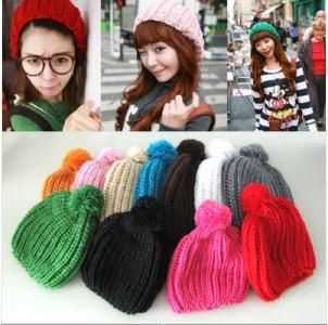 9fa64a95665 2019 Winter Beanie Crochet Womens Lady Knit Beret Hat Tamhat Cap Barret  Cloche Mixed Colors From Worlddeal