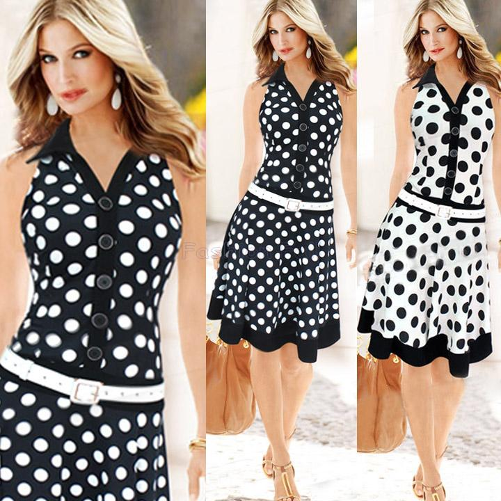 Wholesale Womens Summer Dresses 2015 Summer Vintage Polka Dot ...