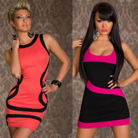 Wholesale one shoulder clubwear dress black - Wholesale-2043 New !! Fashion Women Bare Shoulder Sexy Party Dress Costume Clubwear One Piece Dresses Summer Tops Clothing Free Shipping
