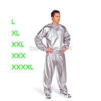 ingrosso scatola di sauna-All'ingrosso-Libero PVC argento o nero donne o uomini Sauna vestito sudore boxe esercizio di perdita di peso extral grande taglia L-4XL