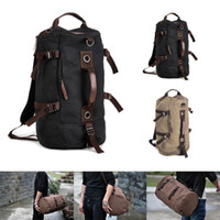 Wholesale Vintage Hiking Backpacks - Wholesale-Mens Vintage Canvas Backpack Rucksack Laptop Shoulder Travel Hiking Camping Bag