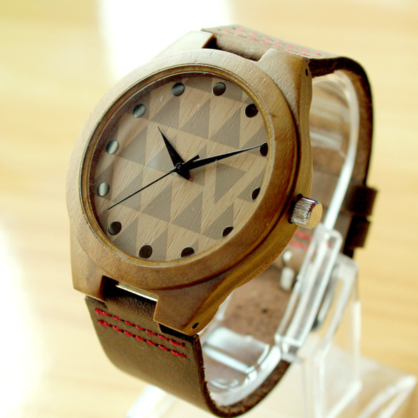 Wholesale-2015 Fashion Natural Bamboo Wooden Watches With Genuine Cowhide Leather Lovers Luxury Wood Watches For Men Idea Gifts