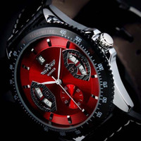 Wholesale Watch Leather Promotion - Wholesale-Promotion Watch Famous Brand Winner Skeleton Automatic Mechanical Watch For Men Best Gifts Top Quality