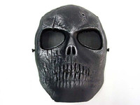 Wholesale army full face mask for sale - Army of Two Skull Full Face Mask Silver Black face dance mask
