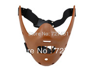 украшения для рукоделия оптовых-Wholesale-3 Colors Delicate Handicraft Resin The Silence of the Lambs Hannibal Mask for Collection Decoration Halloween Party