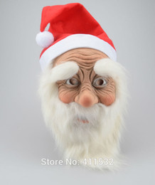 Wholesale Funny Santa Costumes - Wholesale-Funny Supersoft The Santa Claus Mask Wig Beard Costume ChristmasParty Holiday Supply MA59138141