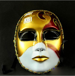 music mask Promo Codes - Wholesale-Best Selling Venice Mask For Male And Female God Of Music Theme Full Face Painted Mask Retail